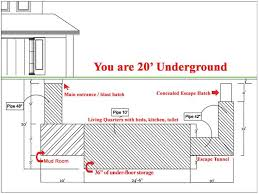 Earth Shelter Underground Floor Plans Underground Bunker Shelter For Nuclear War Zombie Apocalypse