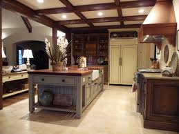 Cottage Kitchen Island by French Gray Island Kitchen