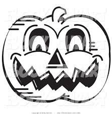 halloween evil pumpkin clipart black and white collection