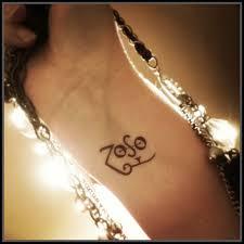 Dominican Republic Flag Tattoo Zoso Tattoo Temporary Tattoo Jimmy Page Tattoo Fake Tattoo Led