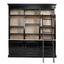 Black Book Shelves by Wall Of Bookshelves With A Rolling Ladder U0027on The Cheap U0027 Walls
