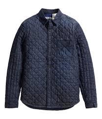 h u0026m quilted denim shirt jacket dark from h u0026m things i