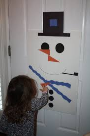 the carrot nose on the snowman put student name on nose