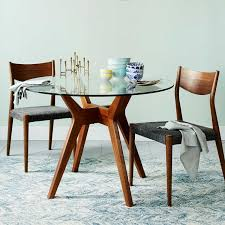 cheap glass dining room sets jensen round glass dining table west elm