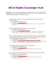 Bill Of Rights Worksheet Answers Bill Of Rights Scavenger Hunt Key Bill Of Rights Scavenger Hunt
