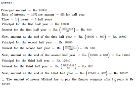 compound interest rs aggarwal class 8 maths solutions ex 11a