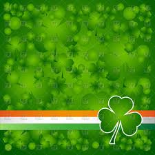 Green Day Flag Clover Leaf On Ireland Flag Element Background For Happy St
