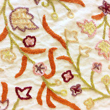 embroidered home decor fabric crewel fabric ebay