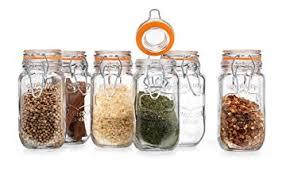 amazon com elegant home high quality airtight glass spice jar