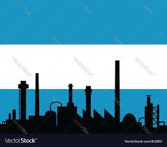 Argentina Flag Photo Industry And Flag Of Argentina Royalty Free Vector Image
