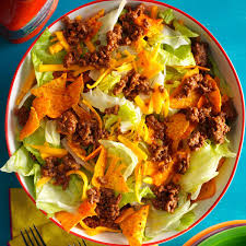easy salad recipe easy ground beef taco salad recipe taste of home