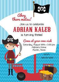 birthday party invitation pirate ahoy boy belleprintables