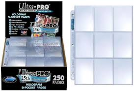 9 pocket pages ultra pro card supplies hologram series 9 pocket pages 250 pages