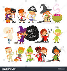 halloween characters clipart happy halloween set cute cartoon children stock vector 304531028