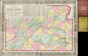 springs washington map cooke s map of the routes to the virginia springs giving all the