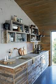 rustic barn wood kitchen cabinets barnwood in a cabin house journal magazine