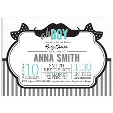 mustache baby shower oh boy mustache baby shower invitations paper blast