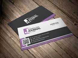 stylish corporate business card template with qr code business