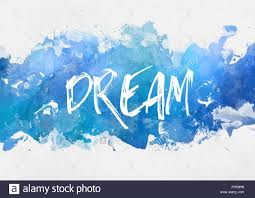 dream motivational blue paint background with a band of splash