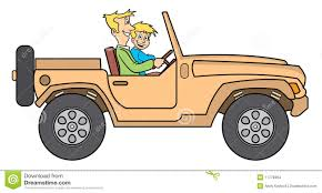 jeep clip art father and son in jeep illustration stock images image 11778364