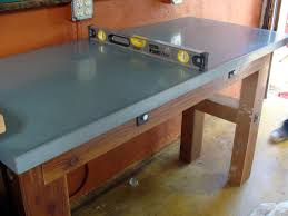 How To Make Homemade Concrete by Concrete Countertop For A Workbench How Tos Diy