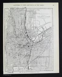 Map Of Newark Nj Black And White Maps Vintage Maps
