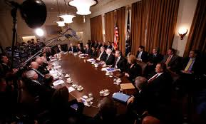 Cabinet White House President Bush Holds Last Cabinet Meeting
