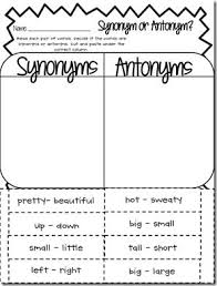 free synonym worksheets free worksheets library download and