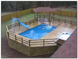 above ground pool deck ideas wood decks home decorating ideas