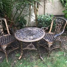 Garden Table Plastic Bronze Plastic Garden Table 2 Chairs In Fulham London Gumtree