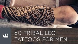 shin tatoos 60 tribal leg tattoos for men youtube