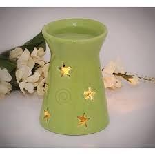 Tea Light Oil Warmer White Ceramic Buddha Head Fragrance Oil Warmer Lamp 6 Inches