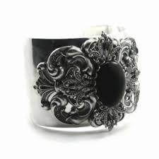 wrist cuff bracelet images Gothic jewelry quot ammaliato noir quot silver filigree wrist cuff jpg