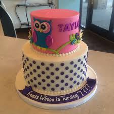 owl birthday cakes owl birthday cake one bakery