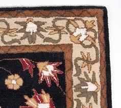 beautiful traditional hand tufted wool 5x8 area rug black beige