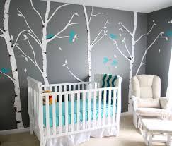 chambre bébé peinture murale bleu turquoise et gris en 30 idées de peinture et décoration bleu