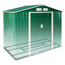 new metal garden shed pent tool storage shed house gabled roof 6x4