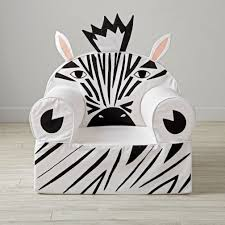 Kids Black Armchair Large Zebra Nod Chair The Land Of Nod
