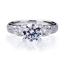 verlobungsring zirkonia damen ring verlobungsring 925 sterling silber zirkonia 2 ct