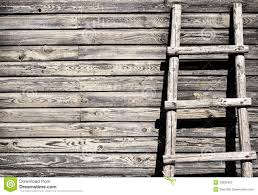 old wooden wall background with ladder stock photos image 33836463