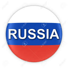Eussian Flag Russian Flag Button With Russia Text 3d Illustration Stock Photo