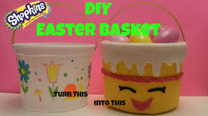 diy how to make an easy shopkins easter basket bucket or birthday