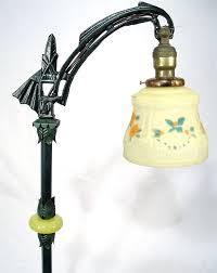 Art Deco Floor Lamps Antique Mustard Glass Art Deco Cast Iron Arrow Head Bridge Floor
