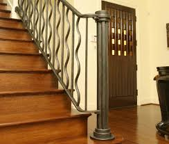 Indoor Banister Blacksmith Custom Designed Stair Railing Hand Forged Steel