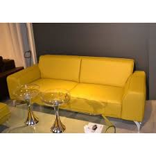 canape jaune cuir canape cuir jaune intérieur déco