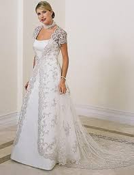 plus size wedding dresses with sleeves or jackets 6837