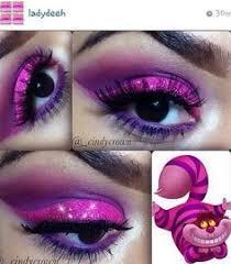 Cheshire Cat Halloween Costume Crystals Highlight Spectrum Purple White Eye Shadows
