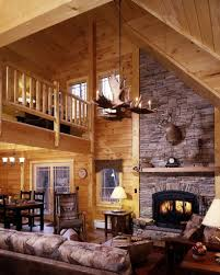 exciting modern log cabin interior design in addition to modern