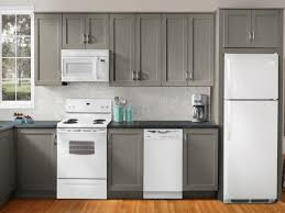Grey Kitchen Cabinets With Granite Countertops by White Kitchen Cabinets With White Appliances Topnotch And
