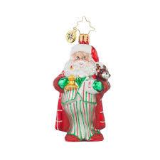 radko 1017707 sleepytime santa gem santa in pajamas ornament new